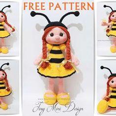 Amigurumi,amigurumi dolls,amigurumi bebek yapılışı,amigurumi oyuncak yapılışı,amigurumi free patterns,örgü oyuncak bebek yapılışı,örgü oyuncak arı kostümlü bebek,handmade toys,handmade dolls,crochet toys,crochet dolls,tiny mini design patterns