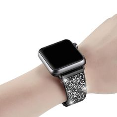 Apple Watch Band rose gold, silver or black bling Luxury Bracelet Watchbands Stainless Steel Bracelet Strap For Iwatch Series 1 2 3 4 - Watches Apple Watch Bands Fashion, Apple Watch Bands 42mm, Apple Watch Sizes, Apple Watch Series 1, Cool Watches, Watches For Men, Unusual Watches, Paracord Watch, Apple Watch Wristbands