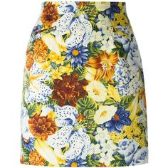 Kenzo Vintage Flower Print Skirt ($126) ❤ liked on Polyvore featuring skirts, bottoms, kenzo, multicolour, high rise skirts, cotton skirt, vintage high waisted skirts, floral printed skirt and high-waisted skirts