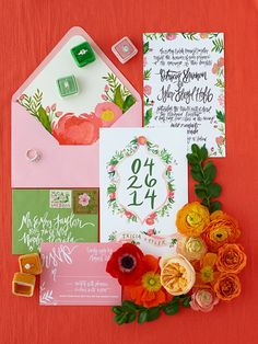 Editor's Picks: Gorgeous Wedding Invitations to Impress Your Guests - Stationery and Calligraphy: Shannon Kirsten