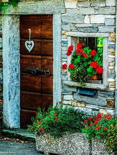 Wooden Door, Tessin, Switzerland