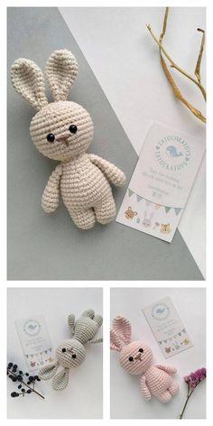 Amigurumi Little Cute Bunny Free Pattern – Free Amigurumi Patterns - Knitting Crochet Bunny Pattern, Crochet Amigurumi Free Patterns, Crochet Animal Patterns, Crochet Dolls, Free Crochet, Knit Crochet, Doll Patterns Free, Knitting Projects, Crochet Projects
