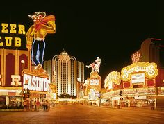 Fremont Street, Las Vegas, now the mecca of neon signs