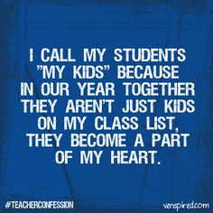 : #teacherconfession This is especially true for teachers who have special education students!