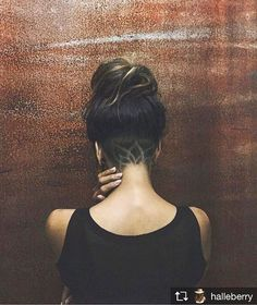 #YEAH @halleberry now with #undercut #hairtattoo #lotustattoo #tattoo…