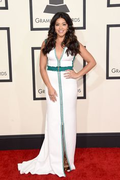 gina rodriguez red carpet grammy Gina Rodriguez, Glamour, Red Carpet Looks, Red Carpet Fashion, Star Fashion, Dress Fashion, Foto E Video, Nice Dresses, Amazing Dresses