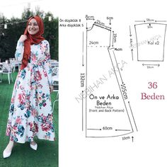 Creating DIY Fashion Trends – Designer Fashion Tips Muslim Fashion, Hijab Fashion, Fashion Dresses, Dress Sewing Patterns, Clothing Patterns, Fashion Sewing, Diy Fashion, Sewing Clothes, Diy Clothes