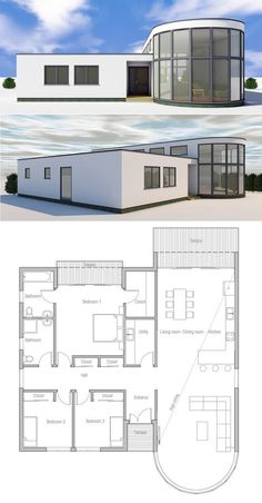 Small Modern House Plan and Elevation 1500sft Plan 5522 Small