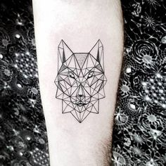 Geometric Wolf Tattoo by Pablo Díaz Gordoa