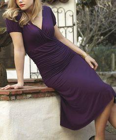 This Purple Ballerina Surplice Dress by Shabby Apple is perfect! #zulilyfinds
