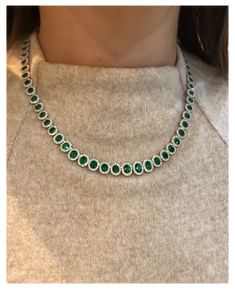 Emerald Jewelry, Diamond Jewelry, Beaded Jewelry, Jewelry Necklaces, Diamond Bracelets, Diamond Necklace Set, Gold Jewellery Design, Necklace Designs, Style Fashion