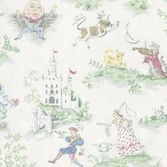 6f6d71f0041 Carousel Designs Nursery Rhyme Toile Fabric by the Yard Cradle Bedding
