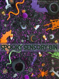 spooky halloween sensory bin