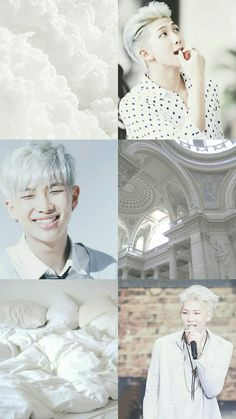 Kpop Wallpaper Asthetic White - Rap Monster - BTS