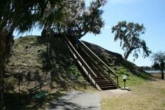 Indian Mound at Crystal River. Archaeological State Park