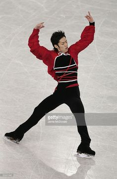 Daisuke Takahashi of Japan in action during the men's free skate at the ISU World Figure Skating Championships at the Lunzhiki Sports Palace March 17, 2005 in Moscow, Russia.