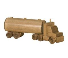 Handmade Wooden Toy Semi Truck Low Boy