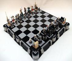 star wars + lego + chess