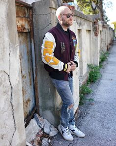 Werbung What are your plans today? 😀 // Wearing college jacket with patches and stichings + mharky destroyed denim from… Diesel, Patches, College, How To Plan, Denim, Jackets, Instagram, Fashion, Advertising