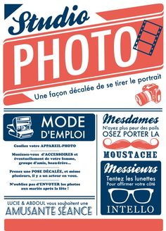 Modele affiche pour studio photo
