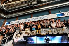 OULU, FINLAND - AUGUST 27: Fans of Karpat Oulu during the... #oulu: OULU, FINLAND - AUGUST 27: Fans of Karpat Oulu during the… #oulu