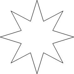 Une étoile à 6 Branches Illustration Star Template Christmas