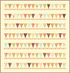 Pennant qulit, would be cute in boy colors for Grant