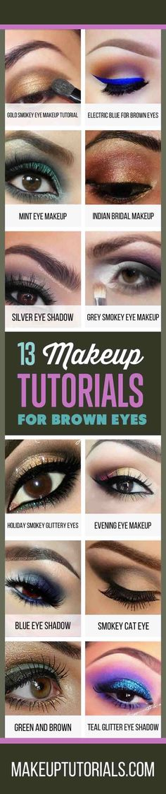 How To Do Awesome Makeup Tutorials For Brown Eyes | Cool Makeup Ideas and Easy DIY Tips For Brown Eyed Girls By Makeup Tutorials. http://makeuptutorials.com/13-best-eyeshadow-tutorials-brown-eyes/