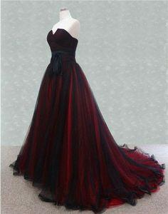 Ball Dresses, Prom Dresses, Red Bridesmaid Dresses, Wedding Bridesmaids, Black Wedding Dresses, Colored Wedding Gowns, Elegant Black Dresses, Dress Wedding, Colorful Wedding Dresses