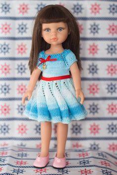 МК. Вязаное платье спицами. Мастер Резеда   ООАK. Одежда и обувь для кукол Дисней
