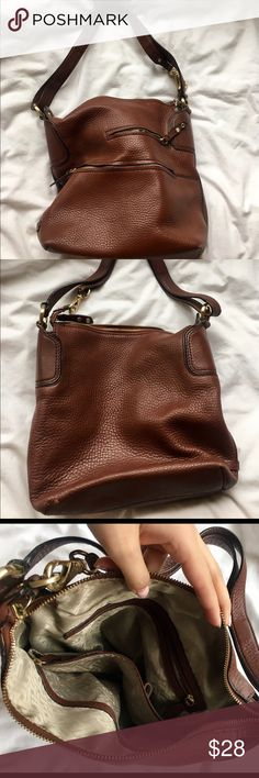 COLE HAAN Classic Brown Shoulder Bag Classic Shoulder Bag. Willing to negotiate. A little worn on bottom from use. Bundle to receive 10% off. No trades please. Cole Haan Bags Shoulder Bags