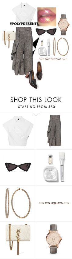 """#PolyPresents: Fancy Pants Florence."" by floo-carriillo ❤ liked on Polyvore featuring Rachel Comey, Effy Jewelry, Henson, Yves Saint Laurent, FOSSIL, Boden, contestentry and polyPresents"