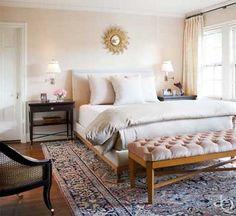 dormitorio pintado de rosa palo