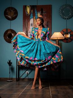 African Print Fashion, African Fashion Dresses, African Dress, Fashion Prints, Ankara Fabric, Ankara Dress, Printed Jumpsuit, Dress Styles, Beautiful Day