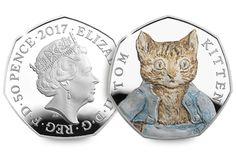Beatrix Potter 2017 50p Silver Proof Coins Tom Kitten Obverse Reverse