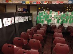 Finish up a Polar Express Unit with classroom decorated for the movie. Kids made winter scenery, snowflakes to walk on, pictures of what it looked like through the windows and more from Kathy Griffin's Teaching Strategies Polar Express Activities, Polar Express Theme, Polar Express Movie, Polar Express Train, Preschool Christmas, Christmas Activities, Kids Christmas, Christmas Parties, Christmas Projects