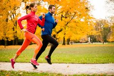 Couple jogging in autumn nature - Buy this stock photo and explore similar images at Adobe Stock Healthy Weight, Get Healthy, Couple Running, Autumn Nature, Couples Images, Jordan Retro, Jogging, Fat Burning, Health And Beauty