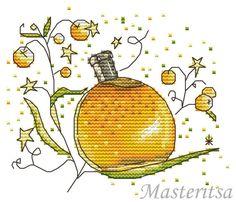 0 point de croix bouteille parfum jaune - cross stitch yellow bottle of perfume