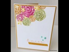 (336) Sweet Joy Clair greeting card start to finish - YouTube