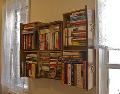 Reusing dresser drawers into book shelfs. I'm going to do this.
