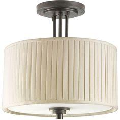 progress lighting inspire 13 in 2 light antique bronze semi