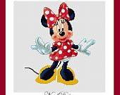 Cross stitch pattern - Minnie mouse - Instant Download!