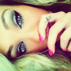 Love her winged eyeliner