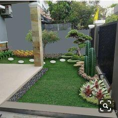 Small Backyard Gardens, Backyard Patio Designs, Small Backyard Landscaping, Landscaping Design, Corner Landscaping, Courtyard Gardens, Nice Backyard, Tropical Landscaping, Balcony Garden