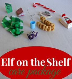 It's time to start prepping for the Elf on the Shelf to return! We made him a care package (and I shared a few special ideas for getting ready!)  http://amomwithalessonplan.com/elf-on-the-shelf/