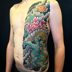 Bonel Tattooer Foo Dog Tattoo, L Tattoo, Body Tattoos, Irezumi Tattoos, Watercolor Tattoo, Ink, Japanese Style, Snakes, Google Search