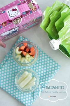 Time saving tips for packing healthy lunches your kids will love. Pack healthy real food lunches in just minutes with these time-saving tips!