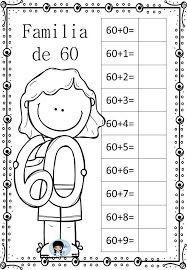 Resultado de imagem para vamos treinar a escrita dos numerais de 60 a 70?