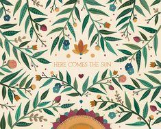 A artista mexicana Ana Victoria Calderon cresceu envolta pela natureza e é justamente com isso que se inspira ao criar: flores, tipografia e simbolismos.
