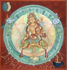 Ushnishavijaya Goddess of Long-Life Longevity Chhatrapati Sutra Chod Meditation Tibetan Buddhist Dharma art thangka thanka tanka mantra